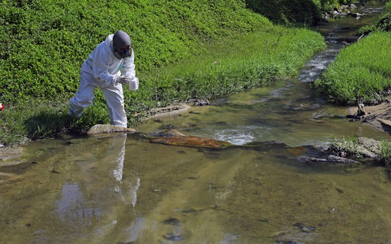 Work going on to clean Mantin stream contaminated with chemical
