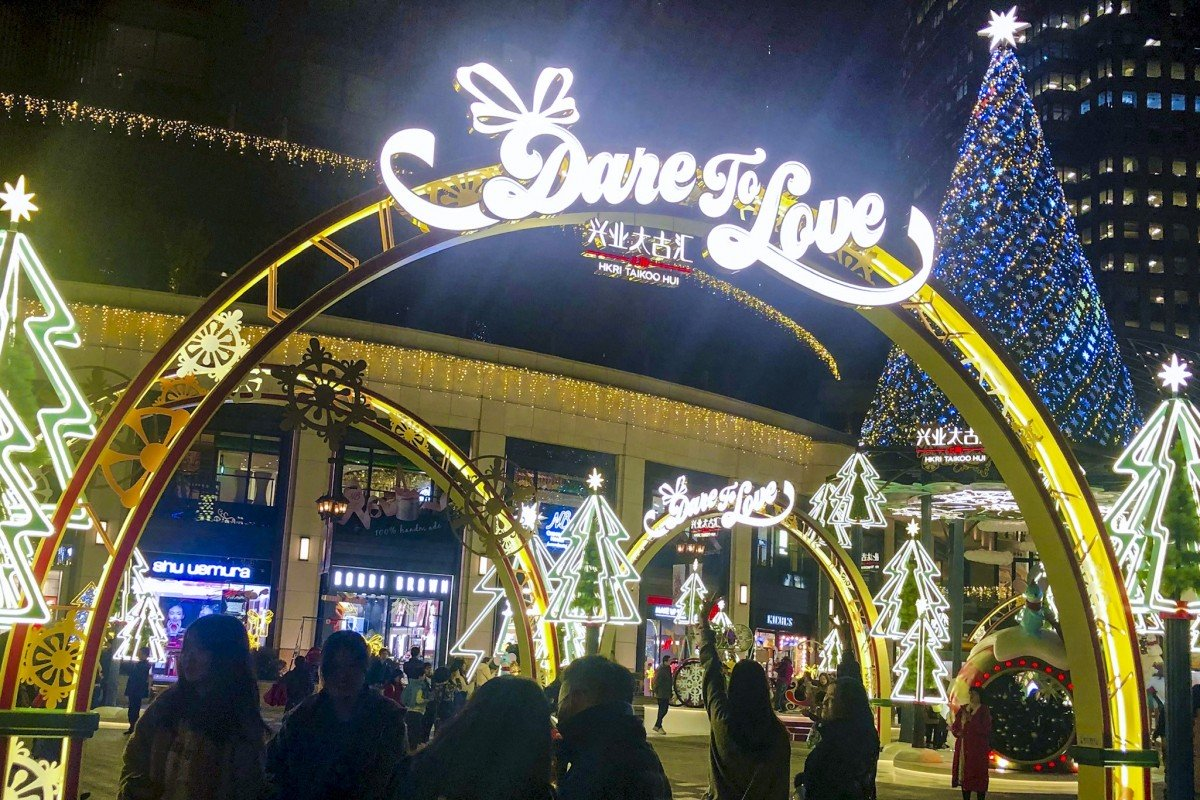 Hong Kong's retail landlords bet on Christmas cheer in their Shanghai malls as protests crush festive spirit at home