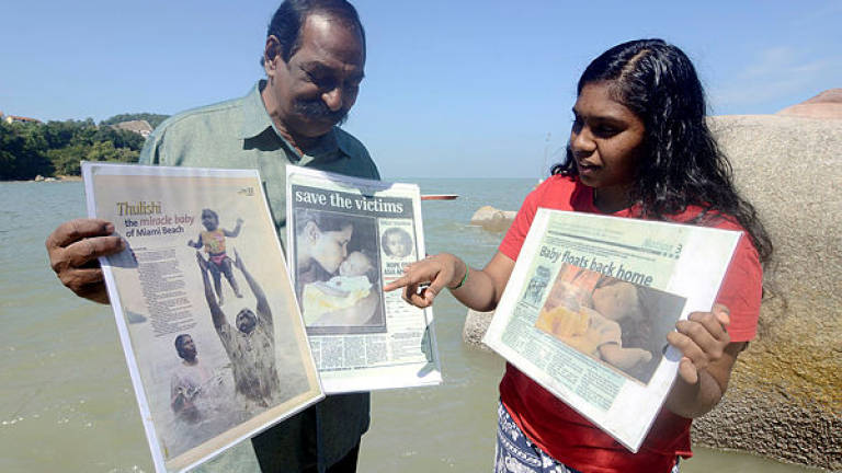Reminisces of the father of Tsunami's miracle baby