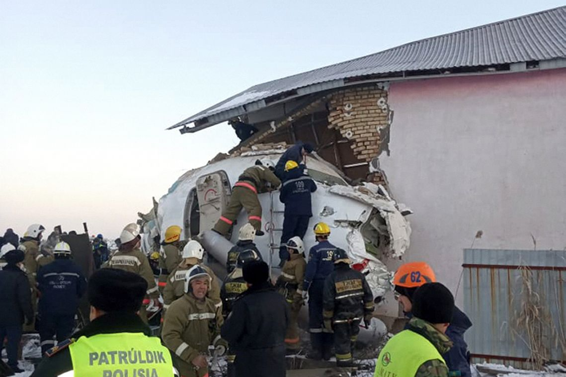 Kazakhstan observes day of mourning after plane crash kills 12