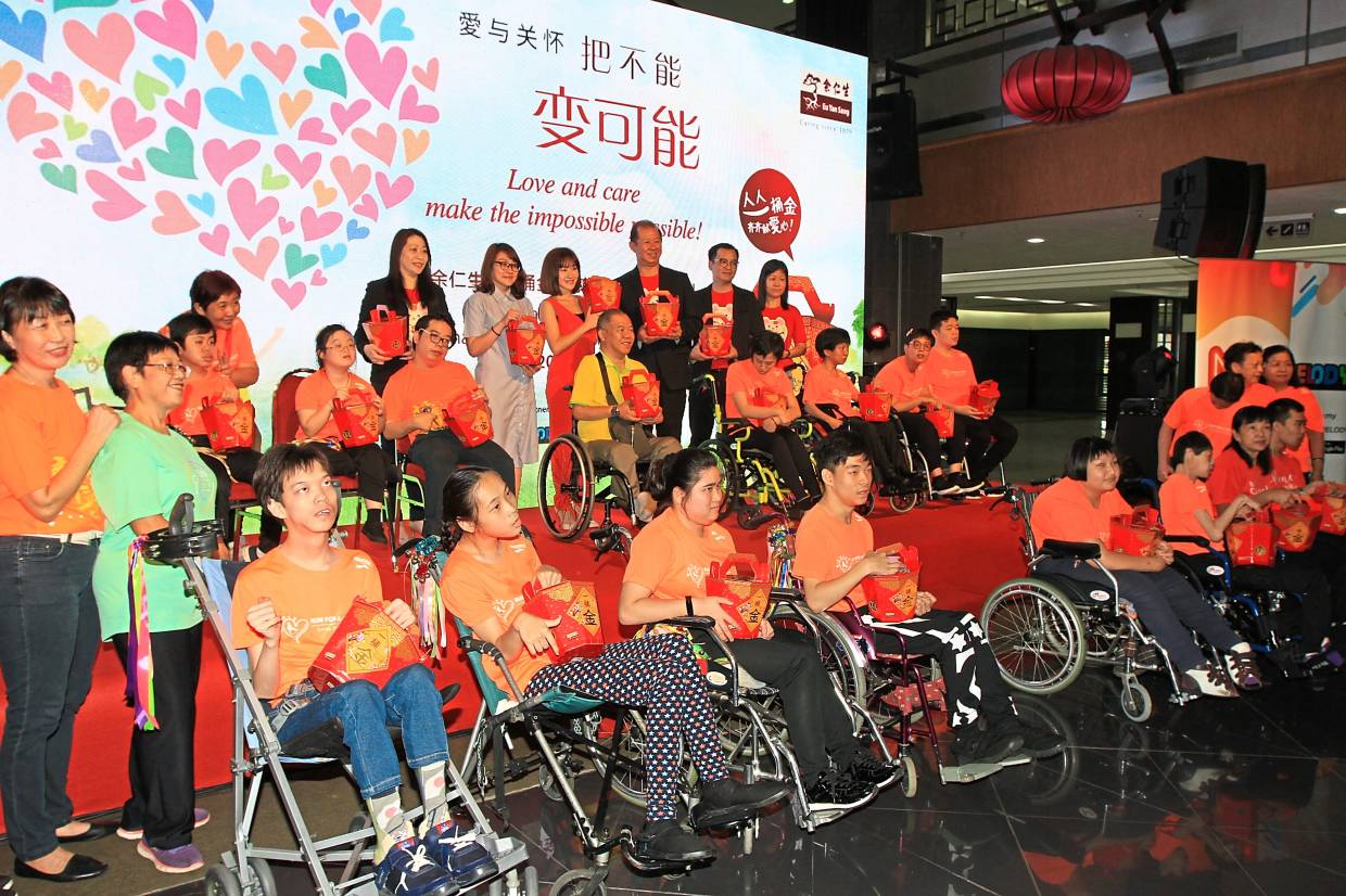Buckets of hope for the disabled