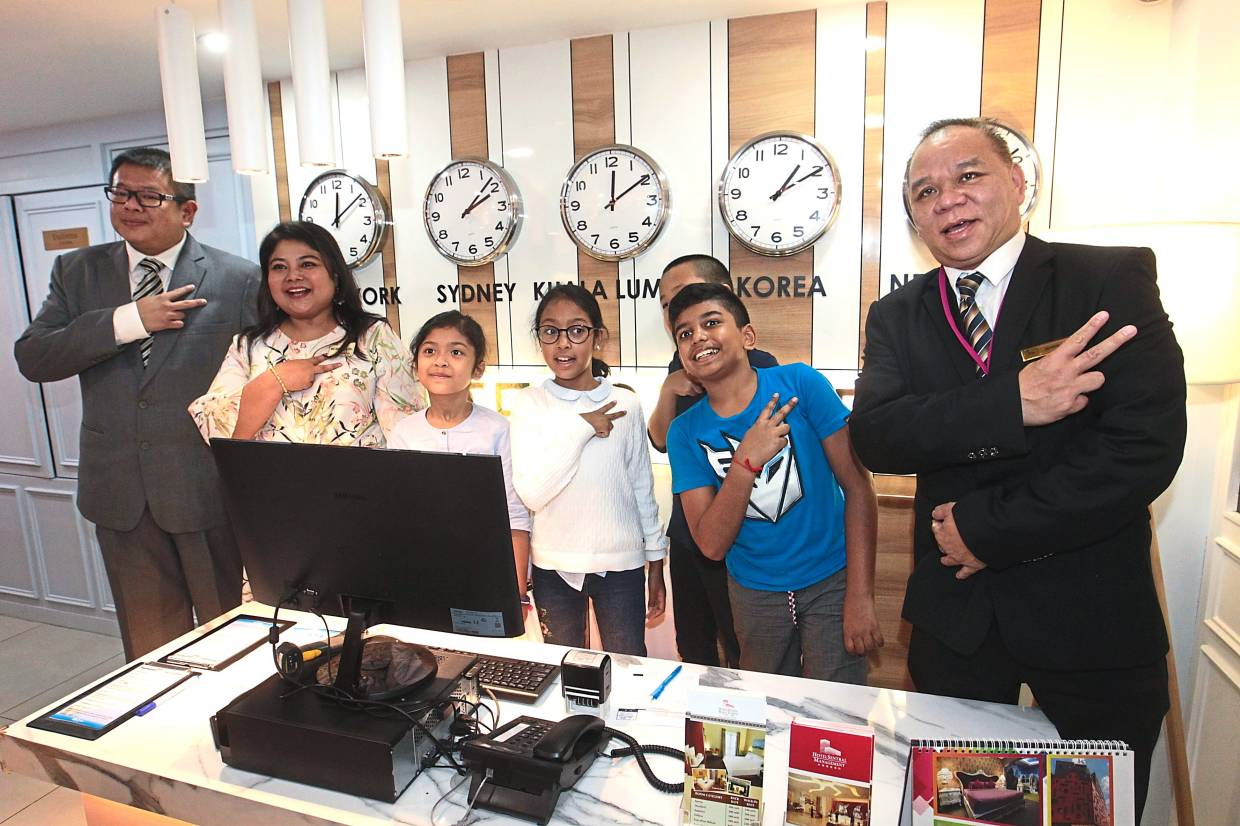 Giving children hands-on experience in hotel business