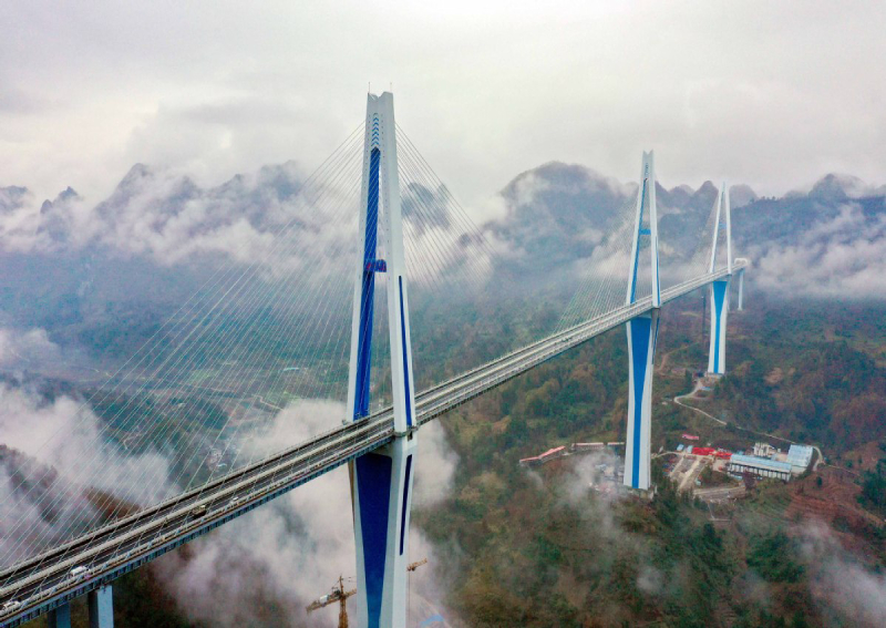 Bridge tower as tall as 110-storey skyscraper to open in China