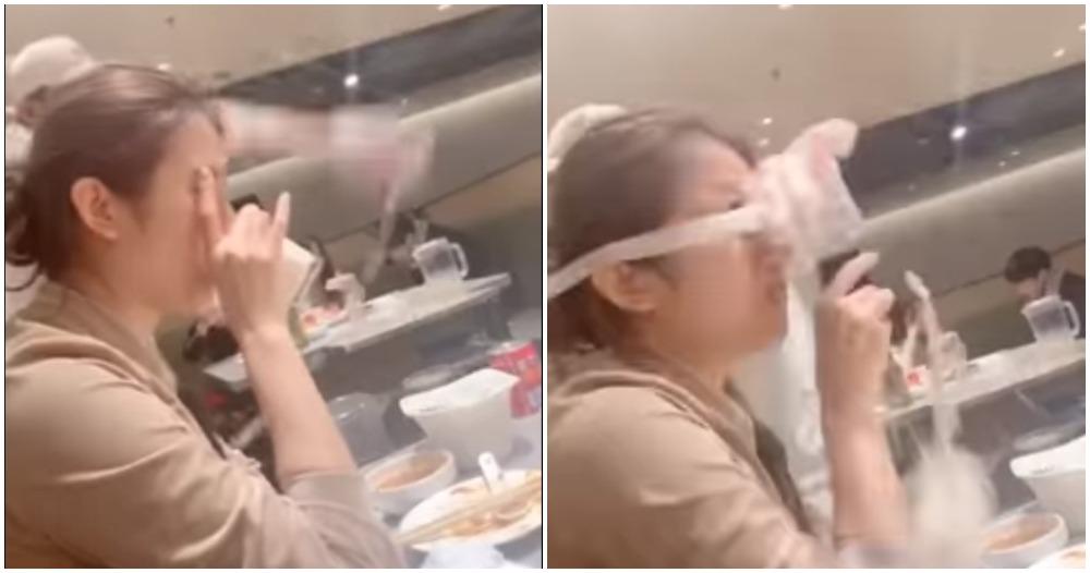 Video: Woman Gets Slapped by Noodle During Famous Haidilao Noodle Dance