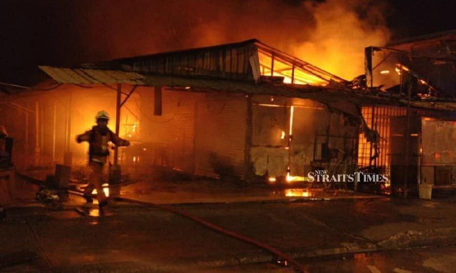 Massive fire guts eight stalls at iconic Pasar Sentul