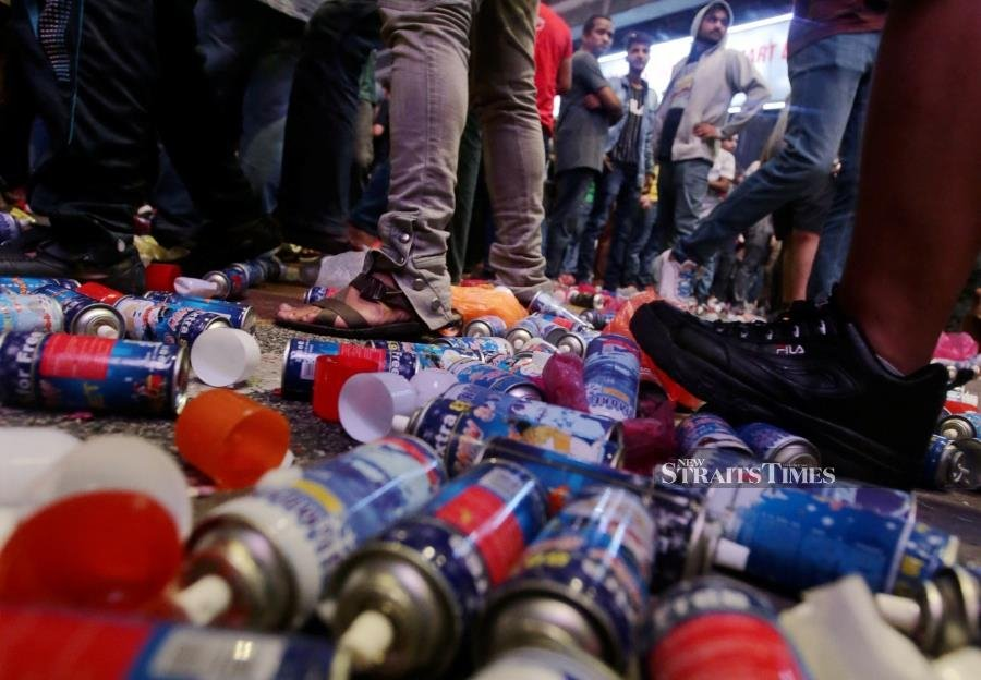 KL streets choked with rubbish after New Year revelry