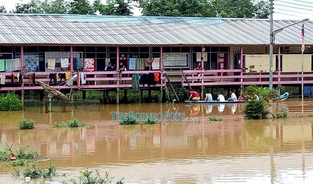 SK Sungai Anak, Selangau starts off new school term as flooding threatens classes