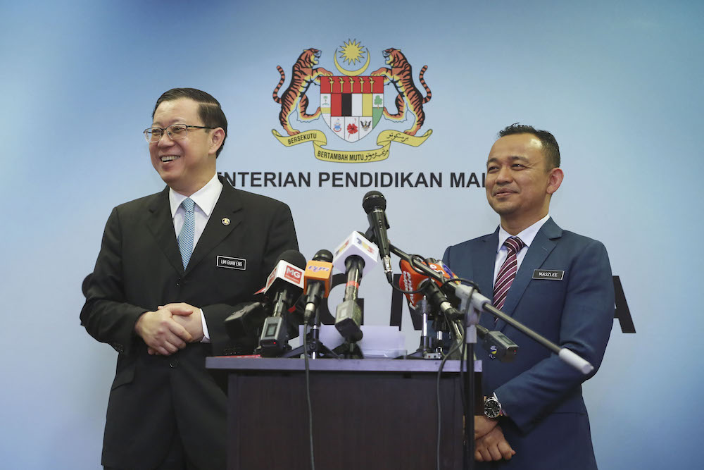 Guan Eng expresses appreciation to Maszlee for his service to govt