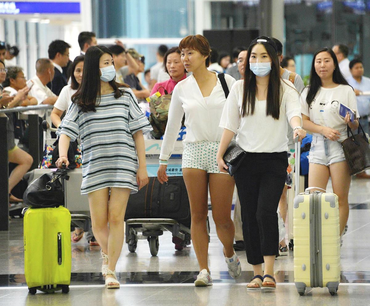 【新冠肺炎】机场明闸口增设红外缐热像仪针对武汉抵港旅客