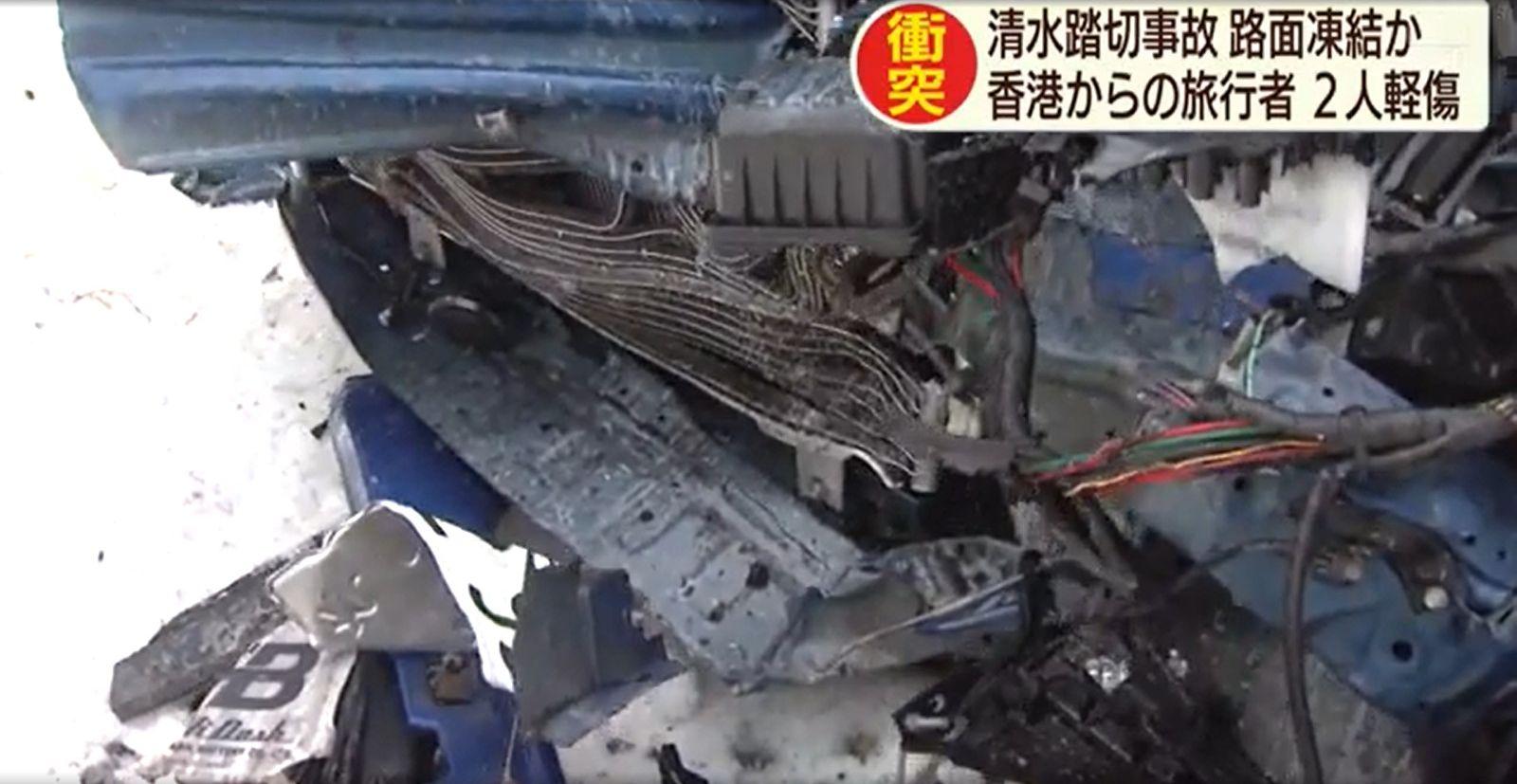 自驾游北海道意外撞列车 两港人轻伤送院