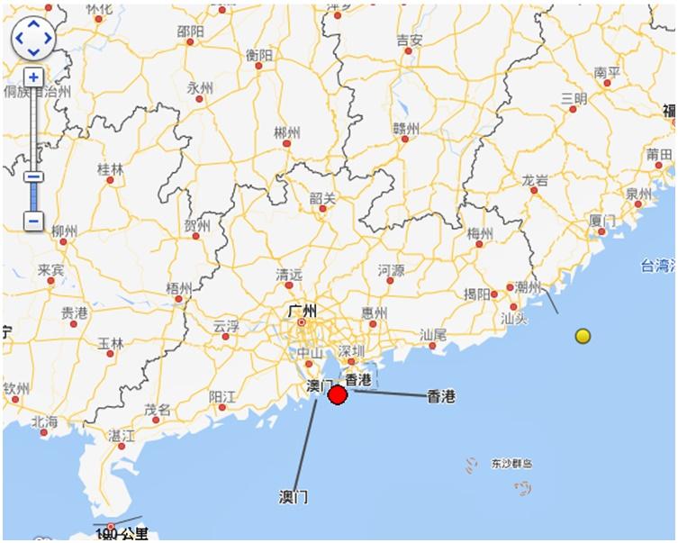 珠海香洲区海域3.5级地震 天文台接逾1200市民有震感报告