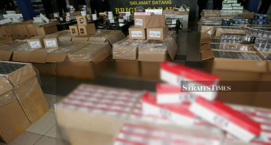 RM800,000 worth of contraband cigarettes seized in Kuching