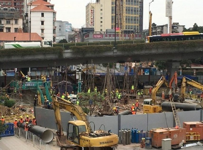 广州地陷至今逾1个月 当局搜出1具遗体