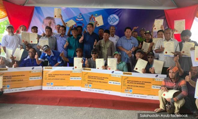 政府拨50万给金马利渔民,巫统质疑收买选民