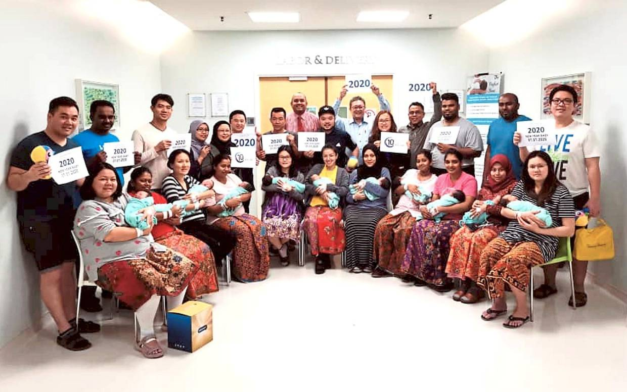 15 babies born at two hospitals on New Year's Day