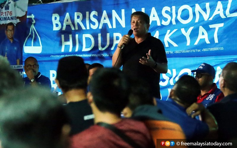 PBS' Kiulu rep campaigns for BN in Kimanis by-election