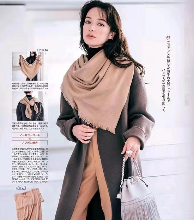 围巾冬天御寒保暖,美丽又有温柔感,给你们分享一波搭配