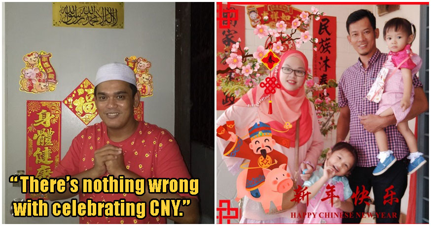 Malay Man Goes Viral Celebrating CNY With His Family, Shows Us What It Means To Be M'sian