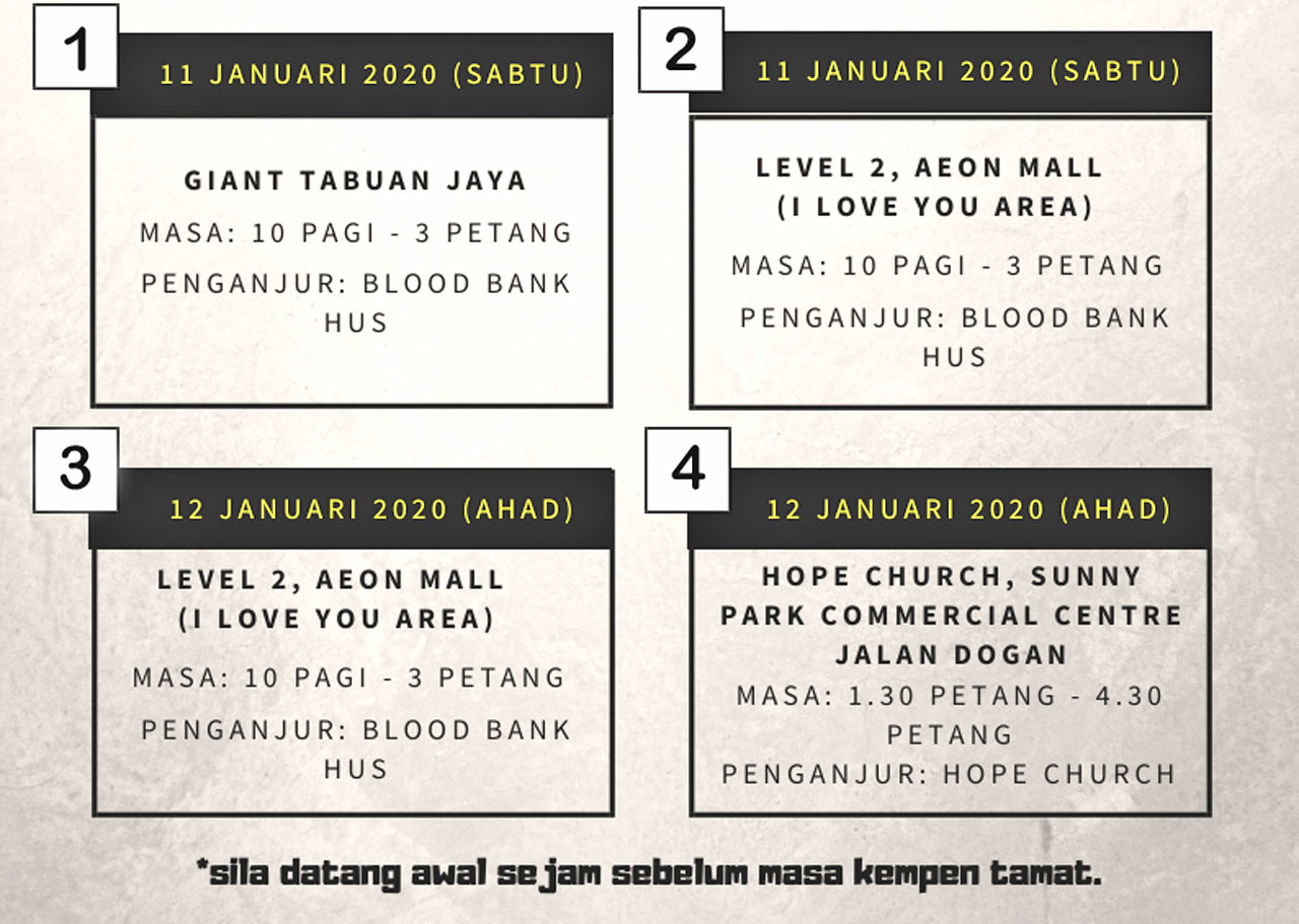 SGH Blood Bank to hold blood donation campaigns this weekend