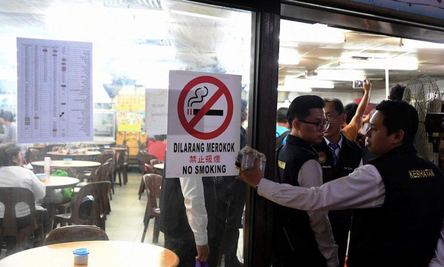 禁烟令开跑 全国突击逾5万食肆
