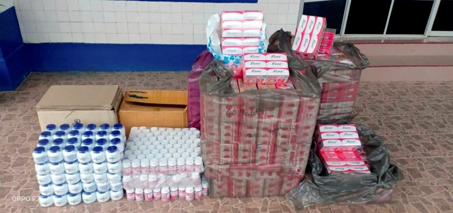 RM42,000 worth of fake cosmetics seized in Rantau Panjang