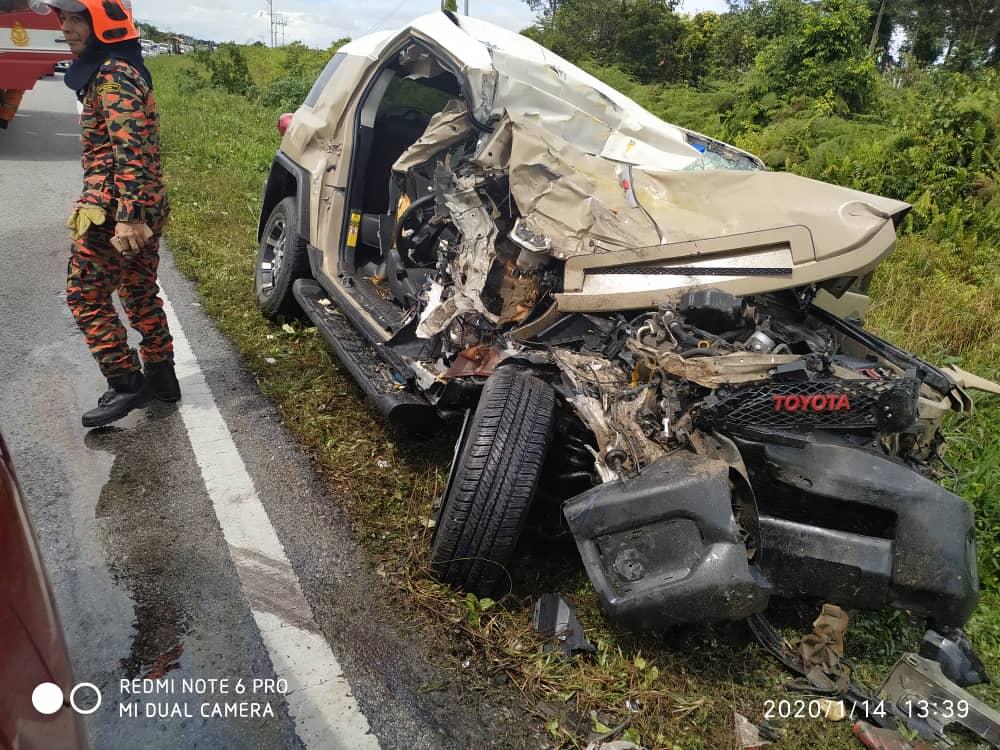 Woman killed, three others injured in Sarawak road crash