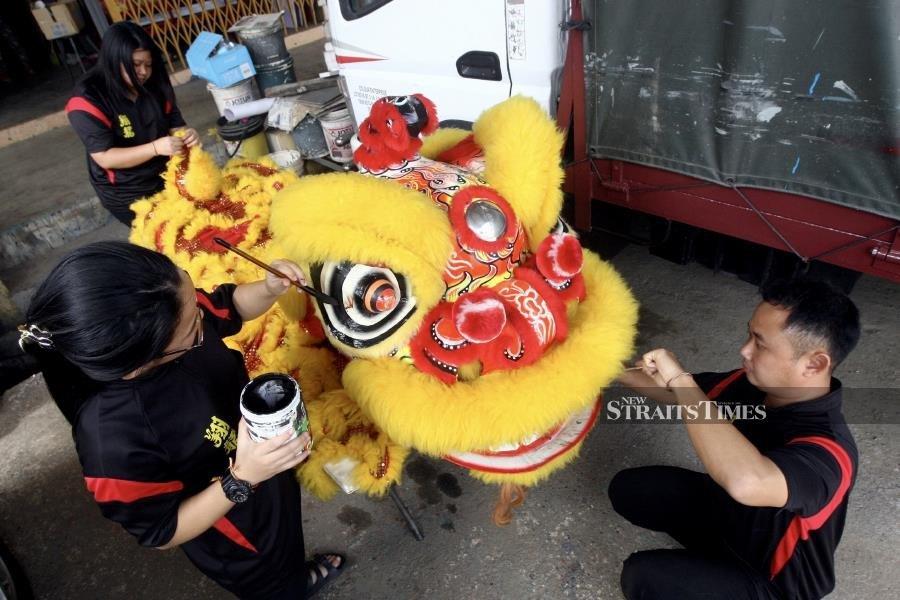 Kelantan lion dance troupe gears up for CNY
