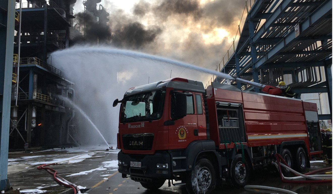 Blast rips through chemical plant in southern China