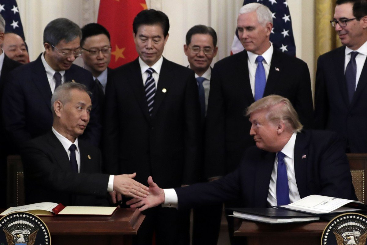 China Vice-Premier Liu He rejects Trump's suggestion of immediate phase two talks, calling idea 'unwise'