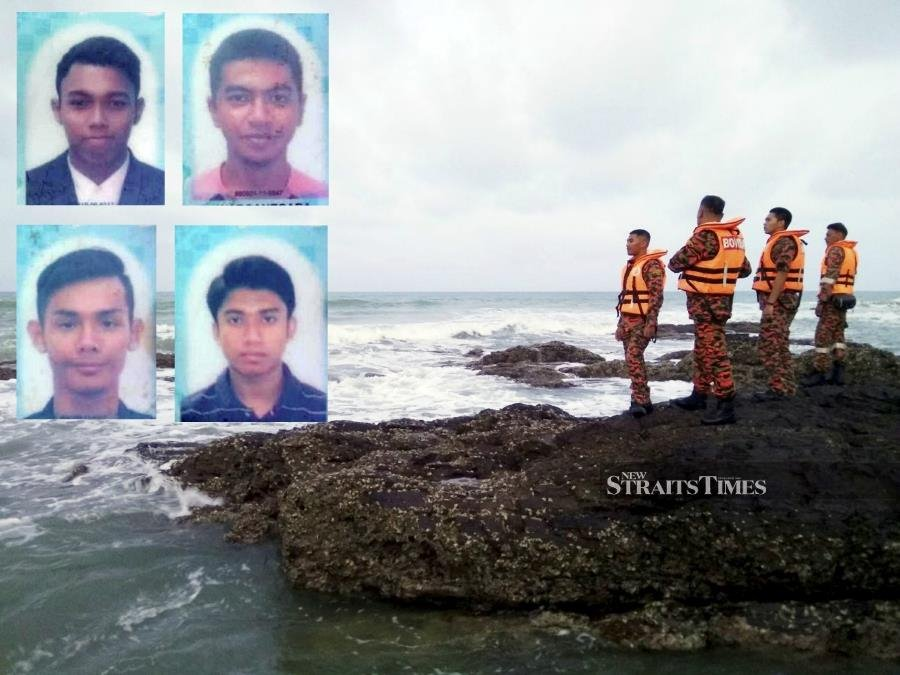 4 polytechnic students feared drowned at Dungun beach