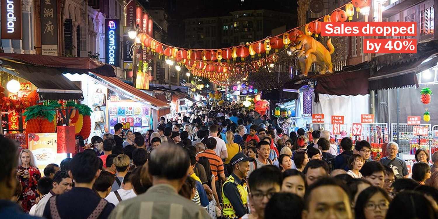 Chinatown CNY market sees smaller crowds due to rain, store owners slash prices to attract customers