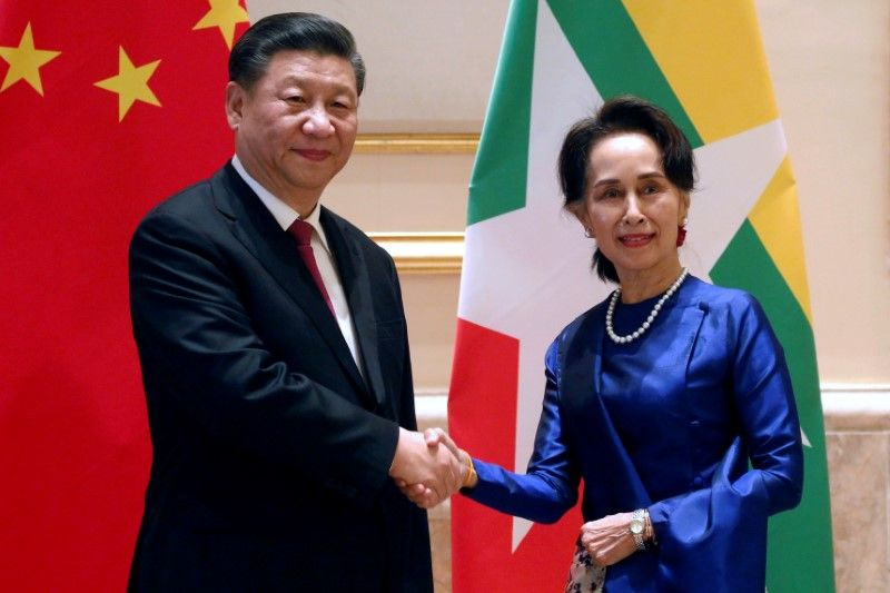 Myanmar President hails 'historic' visit as China's xi arrives to fanfare