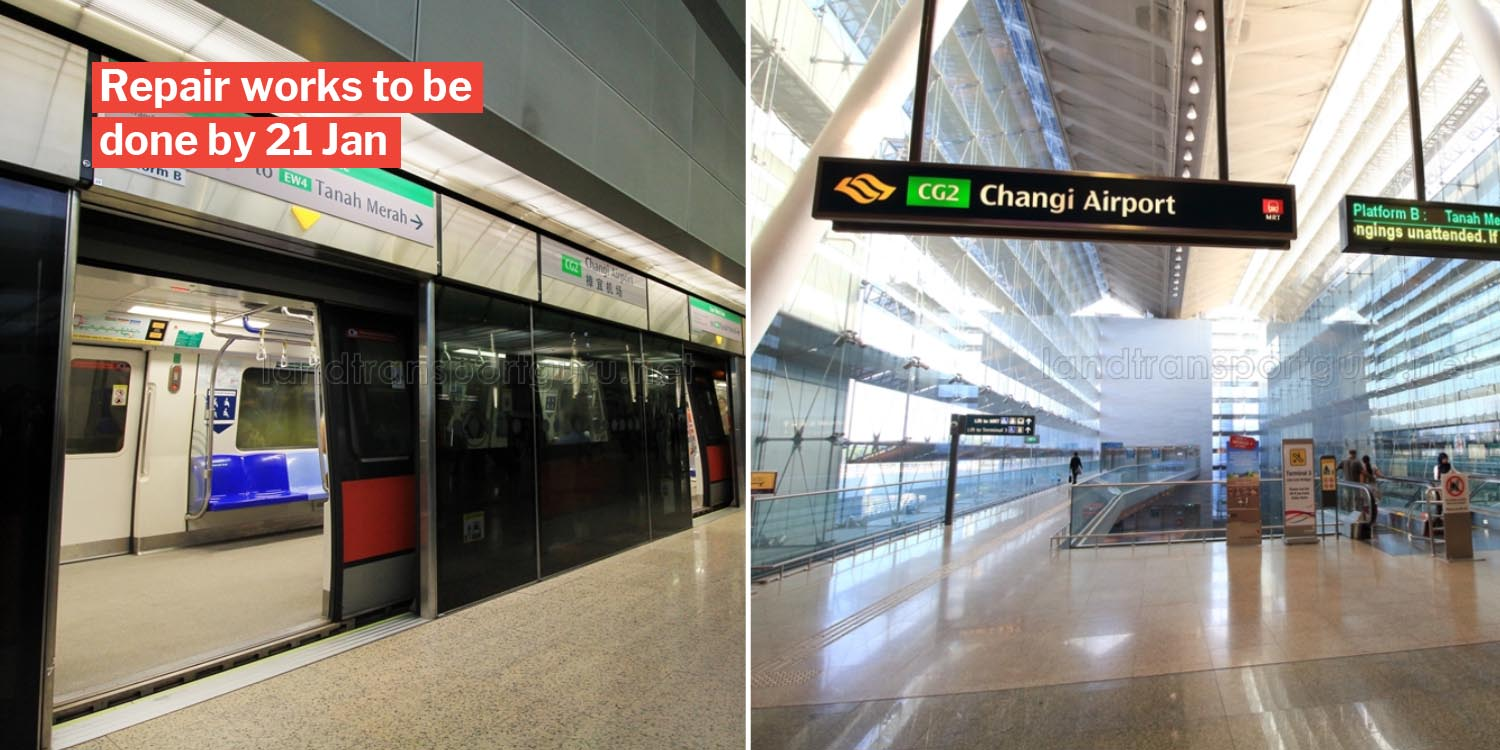 SMRT finds crack near Changi Airport MRT track, longer travelling times expected due to repair works