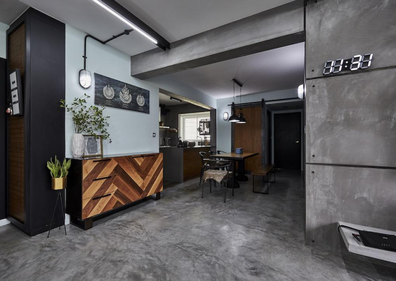 House tour: Industrial-style, cat-friendly HDB BTO home in Boon Lay
