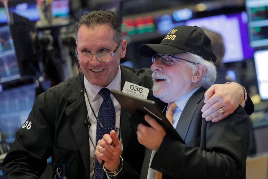 US stocks end at records again, S&P 500 up 0.4%