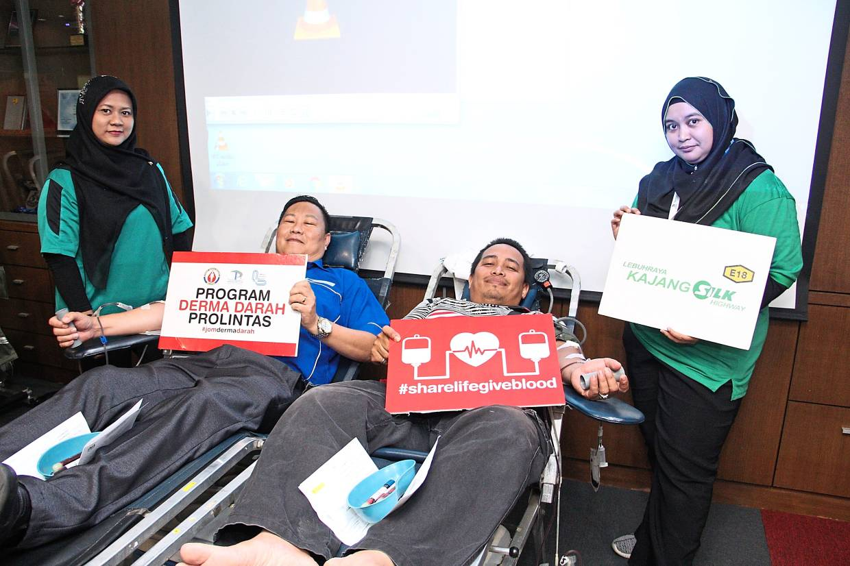 Highway operator helps blood bank up supply