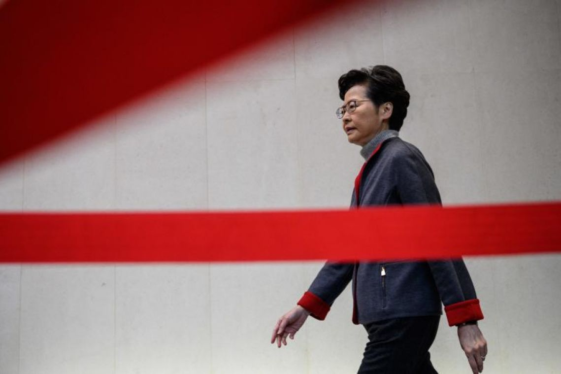 Hong Kong leader Carrie Lam in Davos charm offensive as protests persist