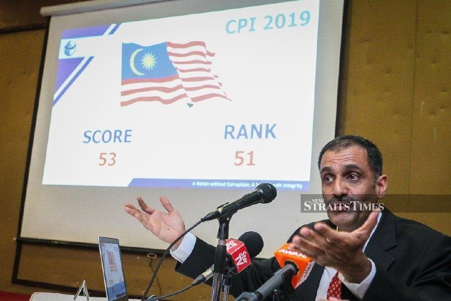 Malaysia's CPI jumps 10 spots due to prompt action against scandals