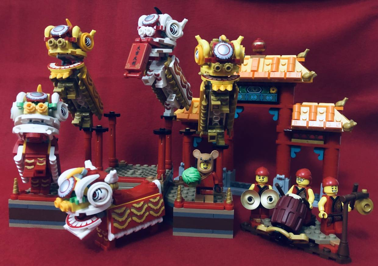 Lego's Chinese New Year sets have the cutest lion dancers ever