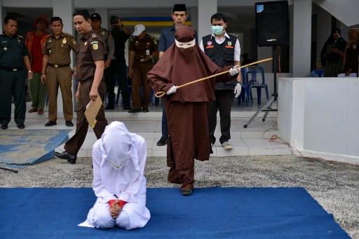 Aceh unveils new female flogging squad