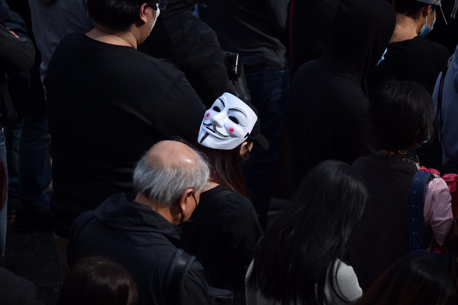 【修例风波】「天下制裁」集会中环举行 防暴警水炮车戒备