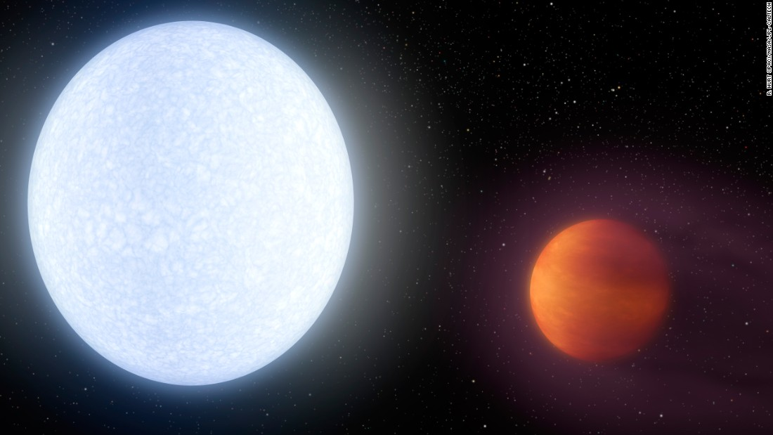 How hot is it? The hottest-known exoplanet is so hot it rips apart its own molecules