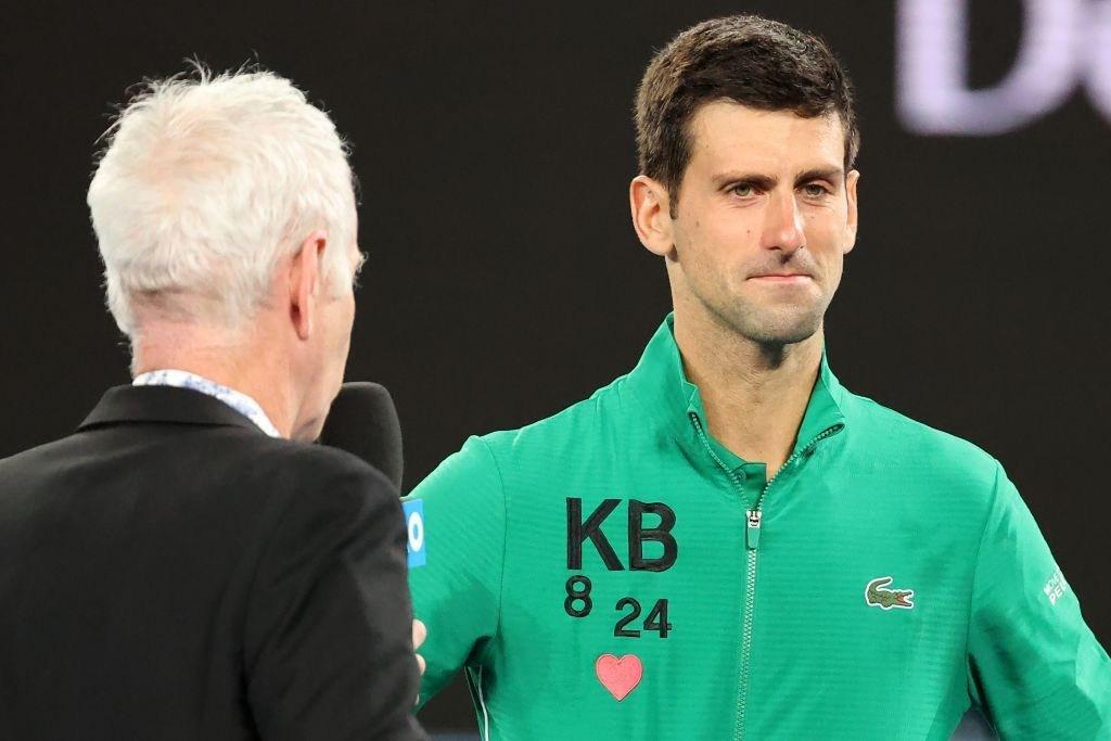 Novak Djokovic Fights Back Tears In Kobe Bryant Tribute After Setting Roger Federer Clash Nestia
