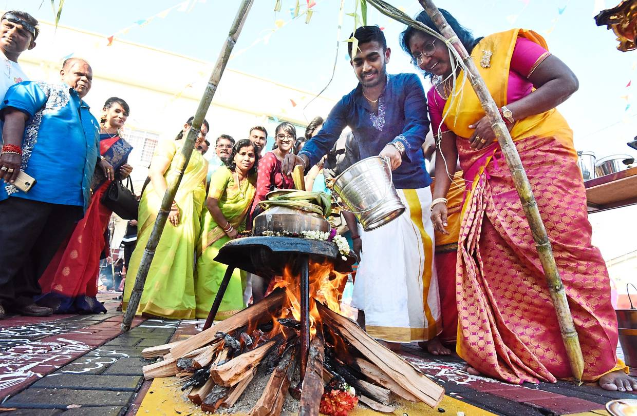 Happiness spilling over at Ponggal event