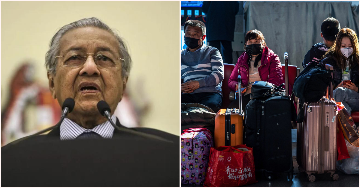 Tun Dr Mahathir Mohamad In Talks With China To Bring Back Malaysians Trapped In Wuhan
