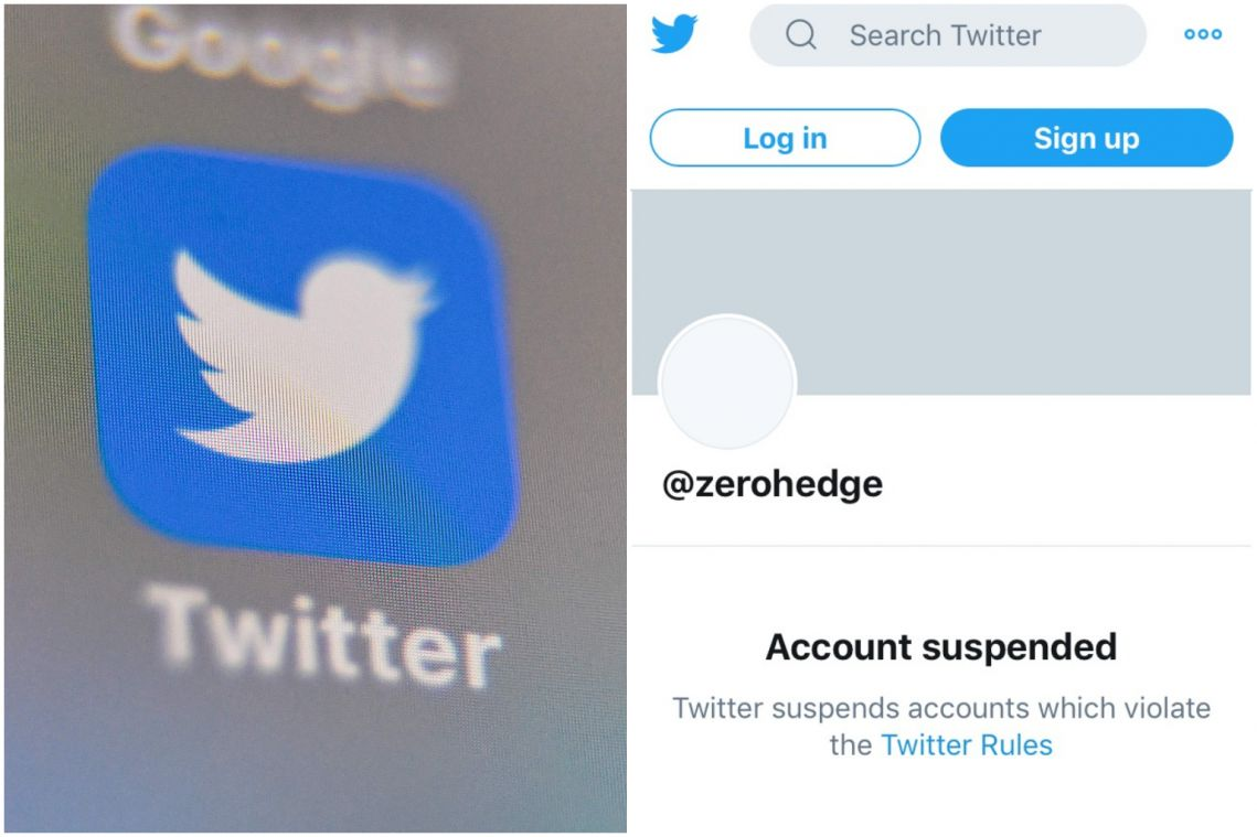 Wuhan virus: Zero Hedge permanently suspended from Twitter for 'harassment'