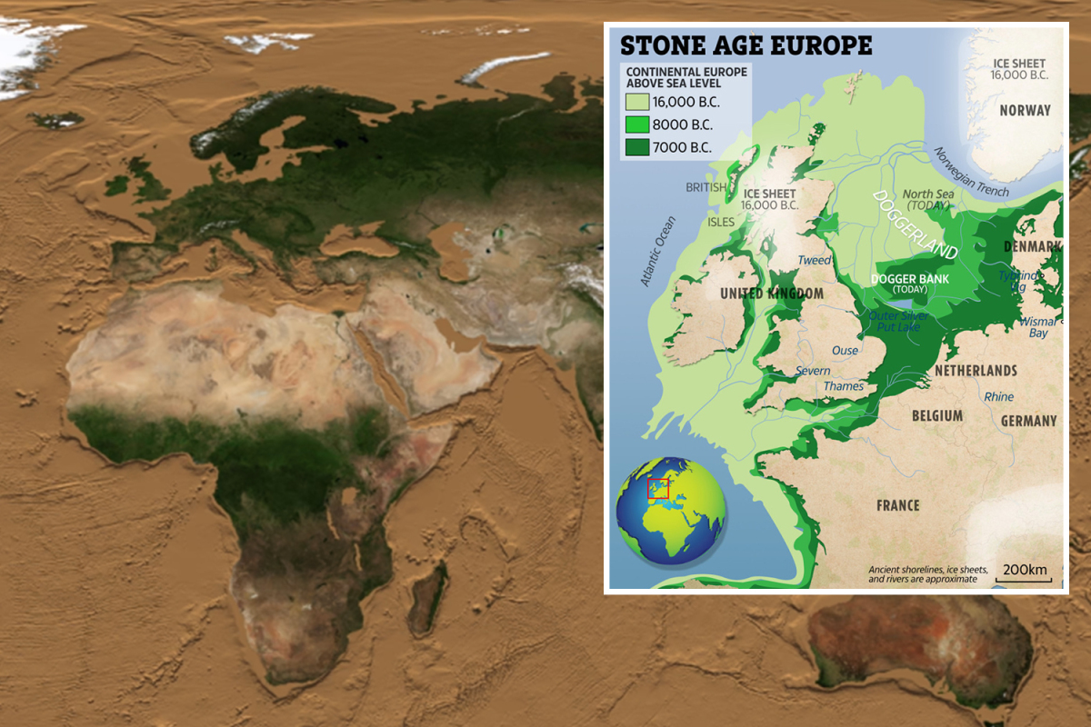 Nasa reveals what Earth would look like with no SEA – uncovering Britain's lost lands