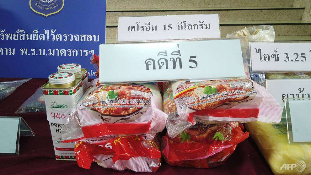 Taiwan duo in hot water for smuggling heroin in instant noodles