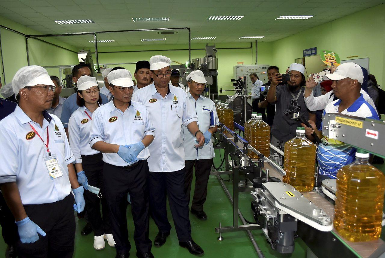 Sabah produces cooking oil