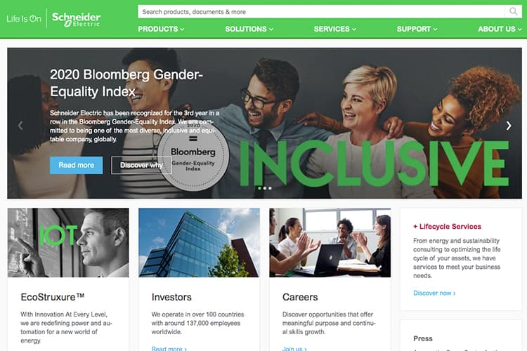 Schneider Electric makes it to Bloomberg Gender-Equality Index for the third year running
